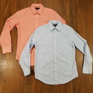 Lot Banana Republic Slim Tailored Gingham 15.5